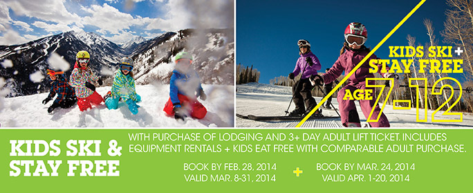 Aspen/Snowmass - Kids Ski & Stay Free